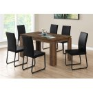 "DINING CHAIR - 2PCS / 38""H / BLACK LEATHER-LOOK / BLACK Product Image"