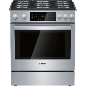BoschGas Slide-in Range 30'' Stainless steel