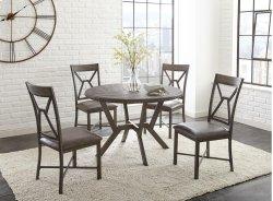 "Alamo Gray PU Side Chair 19"" x 24"" x 39"" Product Image"