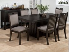 Sensei Oak Dining Table With 4 Upholtered Chairs