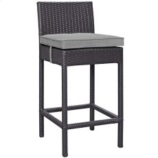 Convene Outdoor Patio Fabric Bar Stool in Espresso Gray Product Image