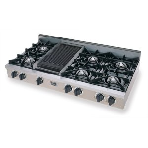 "Five Star48"" Gas Cooktop, Open Burners, Stainless Steel"