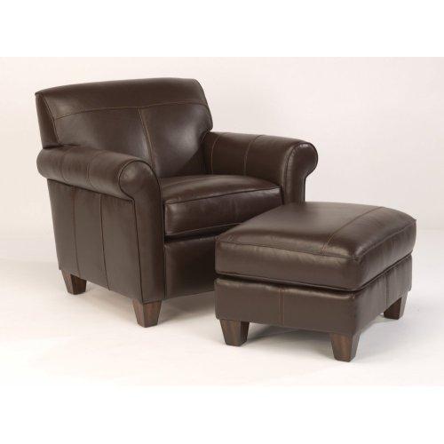 Dana Leather Ottoman