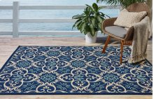 Caribbean Crb02 Nav Rectangle Rug 7'10'' X 10'6''