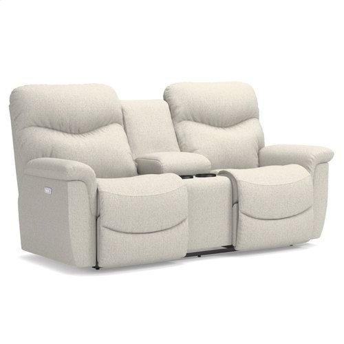 James Power Reclining Loveseat w/ Console
