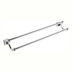 """Polished Chrome 24"""" Double Towel Bar"""