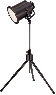 Metal Desk Lamp, Dark Bronze, E27 Cfl 13w