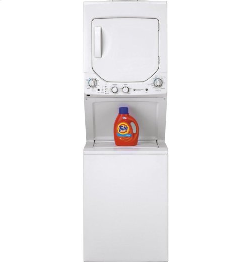 GE Unitized Spacemaker® 2.3 DOE cu. ft. Capacity Washer with Stainless Steel Basket and 4.4 cu. ft. Capacity Electric Dryer