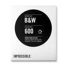 Instant Film PRD3699 for Polaroid 600 Type Cameras (Black/White with Round Frame)