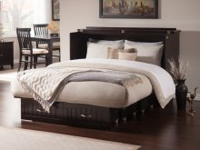 Nantucket Queen Murphy Bed Chest in Espresso with Charging Station