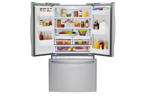 24 cu. ft. Large Capacity 3-Door French Door Refrigerator