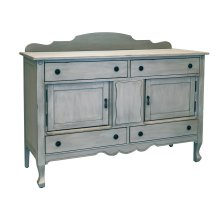 Dove Grey Silhouette Sideboard