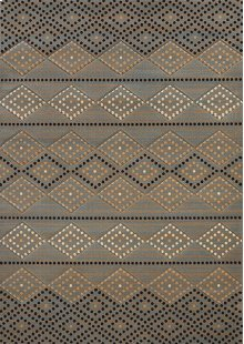 Contours/cem Sedona Diamond Blue Rugs