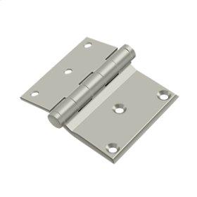 "3""x 3 1/2"" Half Surface Hinge - Brushed Nickel"