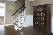 Tuscan Retreat® Double Door Cabinet (glass Front and Two Drawers) - Rustic Mahogany Product Image