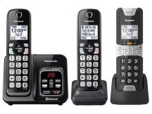 Link2Cell Bluetooth® Cordless Phone with Voice Assist and Answering Machine - 2 Standard Handsets + 1 Rugged Handset - KX-TGD583M2