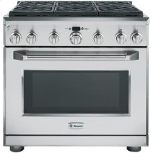 "GE Monogram® 36"" Dual-Fuel Professional Range with 6 Burners (Liquid Propane)"