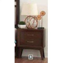 Carrington Mid-century Modern Two-drawer Nightstand