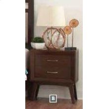 Carrington Mid-century Modern Two-drawer Nightstand
