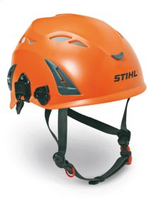 A Type 1, Class C helmet for tree service professionals using chainsaws or pole pruners.