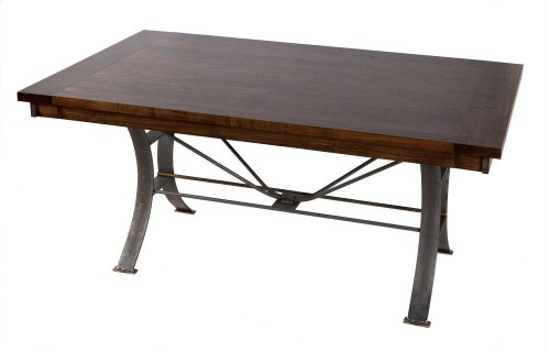 42/72 Solid Top table with Metal Base