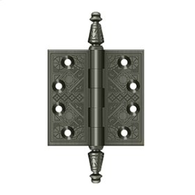 "3 1/2""x 3 1/2"" Square Hinges - Antique Nickel"