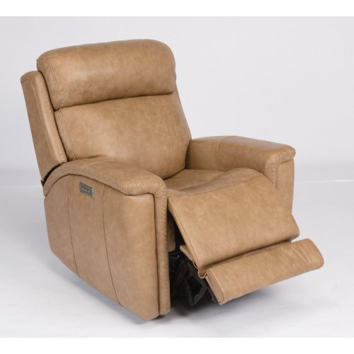 Sandlot Leather Power Recliner with Power Headrest
