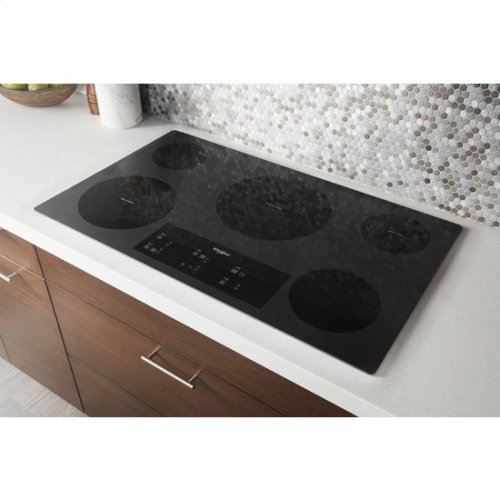 Whirlpool® 36-inch Electric Ceramic Glass Cooktop with Triple Radiant Element - Black