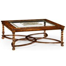 "Square Oyster & églomisé Coffee Table (52"")"