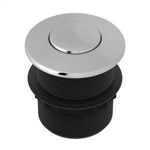 Polished Chrome Air Activated Switch Button Only For Waste Disposal Product Image
