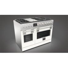 "48"" Dual Fuel Pro Range - Glossy White"
