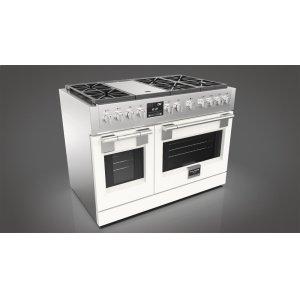 "Fulgor Milano48"" Dual Fuel Pro Range - Glossy White"