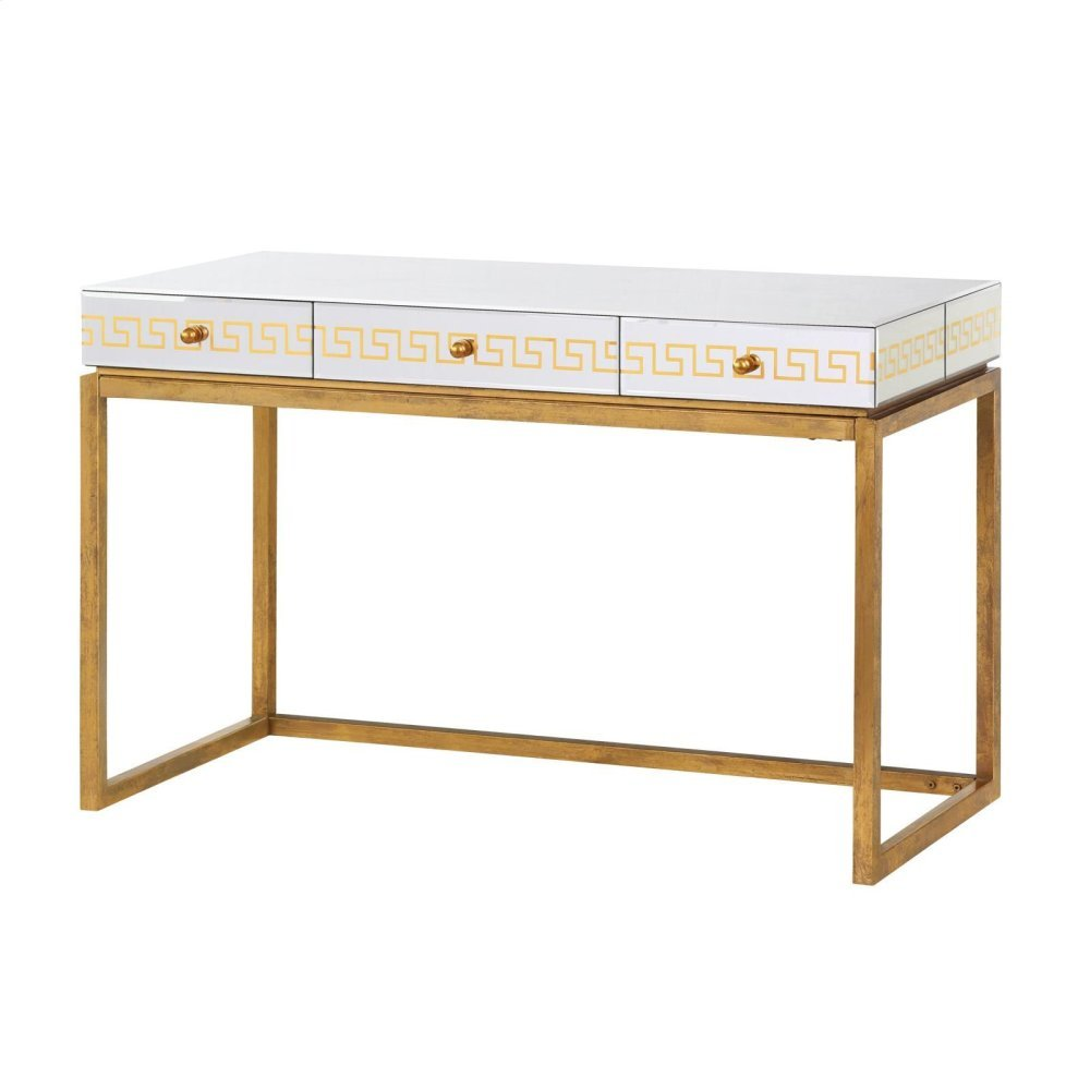 Donatella Desk/Console Table, Antique Gold