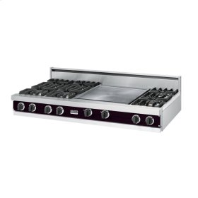 "Plum 60"" Open Burner Rangetop - VGRT (60"" wide, six burners 24"" griddle/simmer plate)"
