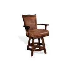 "24""H Santa Fe Barstool w/ Swivel, Cushion Seat & Back"