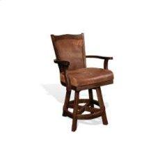 """24""""H Santa Fe Barstool w/ Swivel, Cushion Seat & Back Product Image"""