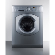 """24"""" Wide Washer/dryer Combo In Platinum Finish, Built By Ariston for Non-vented Use, With 15 Lb. Wash Capacity"""