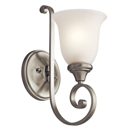Monroe 1 Light LED Wall Sconce with LED Bulb Brushed Nickel