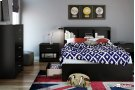 Mates Bed and Bookcase Headboard Set - Pure Black Product Image