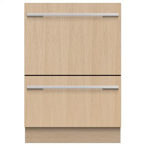 Fisher & PaykelIntegrated Double DishDrawer Dishwasher, Tall, Sanitize