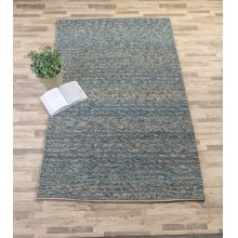 Blue Braided 5' x 8' Hand Woven Rug