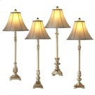 Antique Silver Buffet Lamp (4 asstd). 40W Max. Product Image