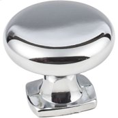 "1-3/8""Diameter Forged Look Flat Bottom Knob."