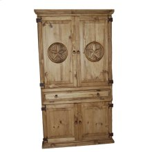 Computer Armoire W/stars With Star