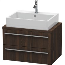 X-large Vanity Unit For Console Compact, Brushed Walnut (real Wood Veneer)