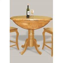 DLU-TPD4242CB-LO  Round Drop Leaf Pub Table  Light Oak Finish