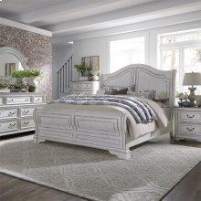 Queen Sleigh Bed, Dresser & Mirror, Chest, NS