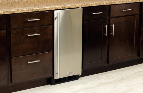 "Marvel 15"" All Refrigerator - Solid Stainless Steel Door - Left Hinge"