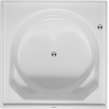 White Bathtub With Support Frame for Panel, Base Tub