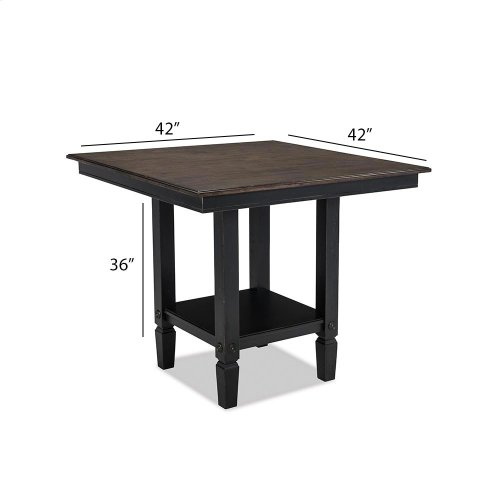 Dining - Glennwood Counter Table  Black & Charcoal
